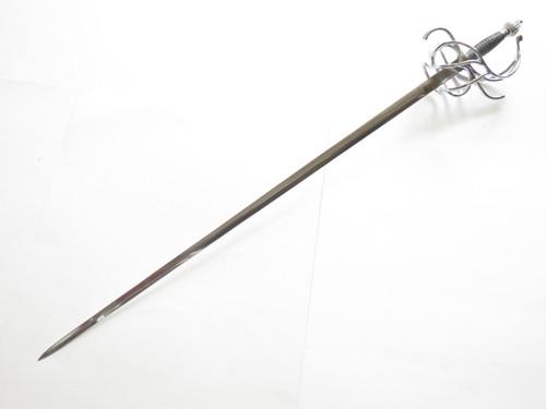 "Windlass Renaissance Rapier 44"" Handmade Limited Fencing Sword Knife And Sheath"