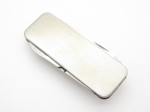 Kinryu Stainless Money Clip Cash Holder Scissor Tool Folder Folding Pocket Knife