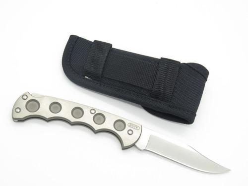 2001 Buck 560 Titanium Xlti Folding Hunter 110 Lockback Knife & Sheath