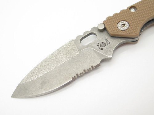 Buck 889 0889BO Tarani Strider Desert Tan ATS-34 Folding Knife Custom Buildout