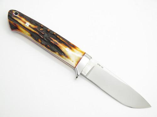 Tom Buckner USA Custom Handmade Sambar CPM154 Loveless Fixed Blade Hunting Knife