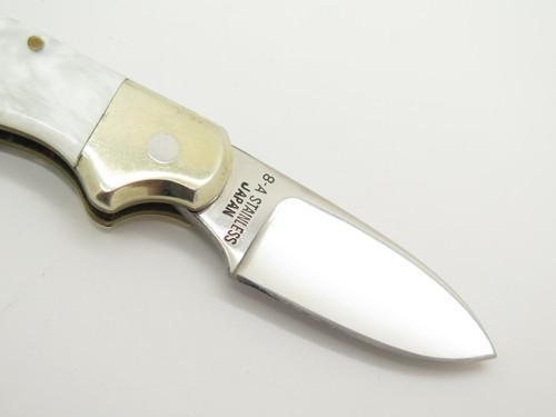 Vintage Edge Mark Explorer 120 Seki Japan Squirrel Hunter AUS8A Folding Pocket Knife