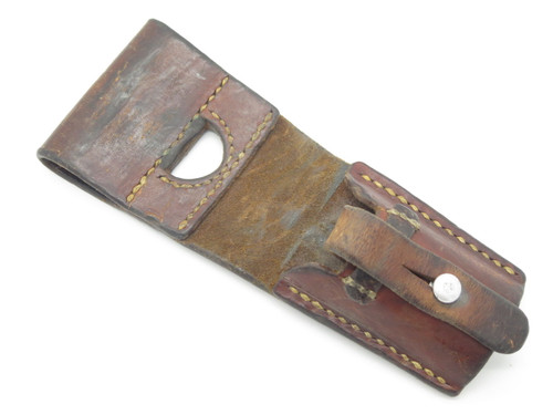 VTG 1967 SWISS ARMY SURPLUS BAYONET LEATHER FROG for K31 K1911 V1957 SCABBARD