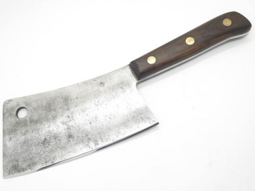 "SHARPENED VTG DASCO KITCHEN CUTLERY HEAVY 8"" MEAT CLEAVER BUTCHER KITCHEN KNIFE"