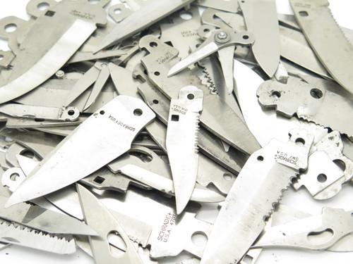 Misc. Lot 70 + Vtg Schrade USA Folding Pocket Knife Tool Blade Blank Making Part