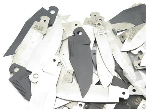 Lockback Lot 60 + Vtg Schrade USA Folding Pocket Knife Blade Blank Making Part
