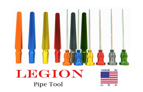 Legion USA Pipe Tool Aluminum 3in1 Tobacco Tamper Reamer Stainless Cleaning Pick
