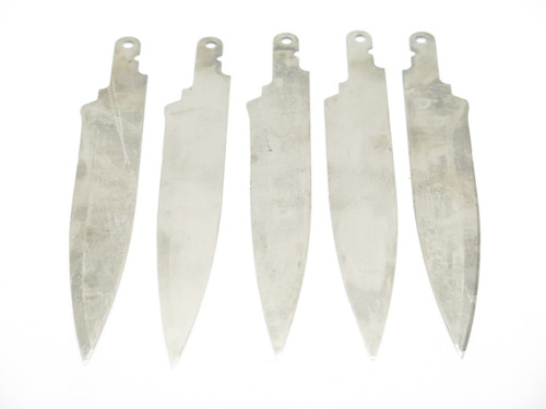 LOT of 5 VINTAGE SCHRADE STEAK CHANGER KITCHEN CUTLERY KNIFE BLADE BLANK MAKING PART