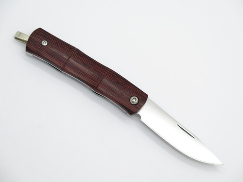 Mcusta MC-152 Take Seki Japan AUS-8 Red W Bamboo Folding Money Clip Pocket Knife