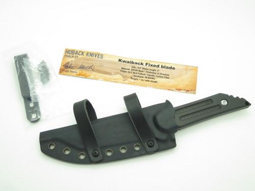 Jake Hoback Kwaiback Cf S35VN Black Custom Fixed Tanto Tactical Knife And Sheath