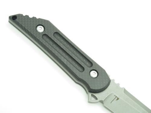 JAKE HOBACK KWAIBACK CF S35VN CUSTOM FIXED BLADE TANTO TACTICAL KNIFE AND SHEATH