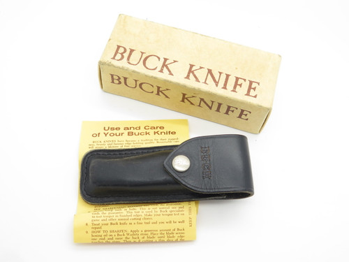 1973 BUCK 317 TRAILBLAZER FOLDING HUNTER KNIFE SHEATH & BOX & PAPER (NO KNIFE)