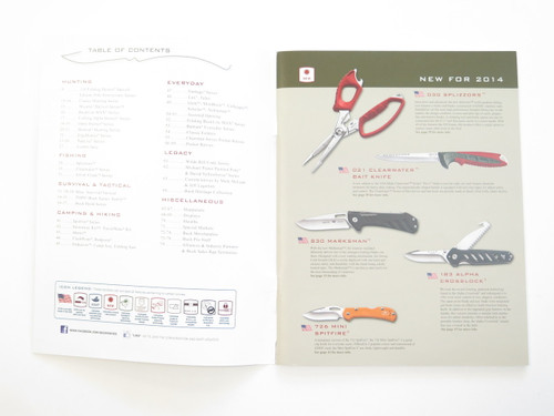 2014 Buck Dealer Knife Catalog Fixed 119 Folding Hunter 110 50th Anniversary