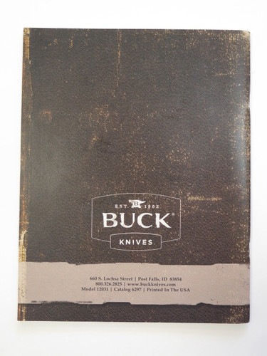 2012 Buck Dealer Knife Catalog Price List Book Fixed Folding 110 124 119 184