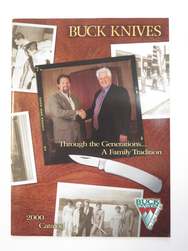 2000 BUCK DEALER KNIFE CATALOG BROCHURE BOOK FIXED FOLDING 110 124 119 184