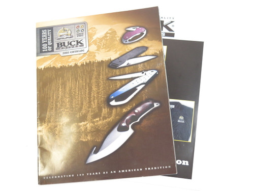 2002 BUCK DEALER KNIFE CATALOG MERCHANDISE BOOK FIXED FOLDING 110 124 119 184