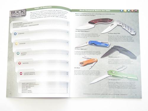 2003 Buck Dealer Knife Catalog Brochure Book Fixed Folding 110 124 119