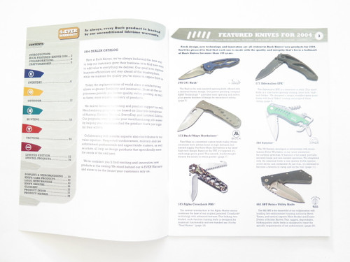 2004 Buck Dealer Knife Catalog Price List Book Fixed Folding 110 124 119