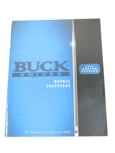 2005 BUCK DEALER KNIFE CATALOG BOOK FIXED FOLDING STRIDER 889 110 124 119 184