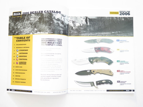 2006 Buck Dealer Knife Catalog Price List Book Fixed Folding 110 124 119