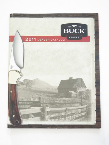 2011 Buck Dealer Knife Catalog Price List Book Fixed Folding 110 124 119