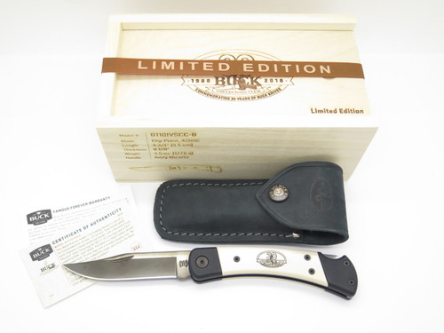 Buck 110 Micarta Limited Custom BCCI 30th Anniversary Club Folding Hunter Knife
