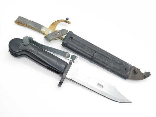 Vtg 1946 WWII East German Fixed Blade Bayonet Military Knife & Scabbard Sheath