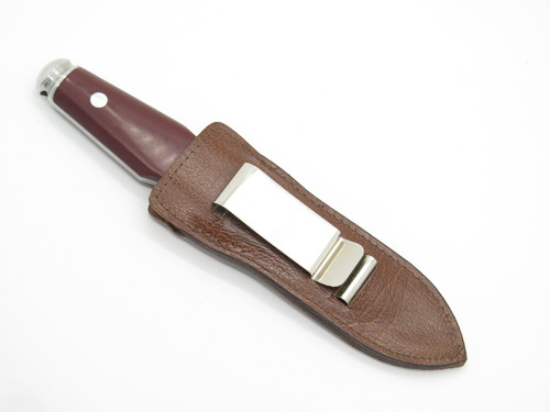"Vtg 1977 AG Russell Sting II Micarta 8"" Large Dagger Boot Knife Solingen Germany"