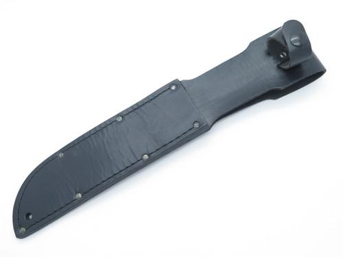 "ONTARIO USN MK 2 LEATHER FIGHTING KNIFE SHEATH LONG 7"" FIXED BLADE KA-BAR *BLEM"