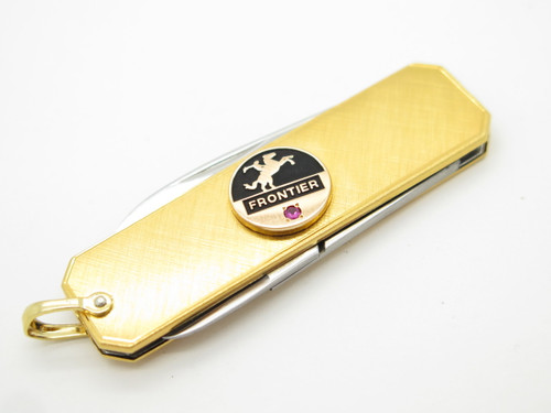 Frontier Ruby Award Seki Japan Small Gold Lobster Gentleman Folding Pocket Knife