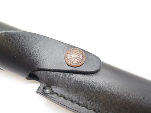 "Case XX Finn Black Leather Fixed Hunting Knife Sheath 4.75"" Blade Medium"