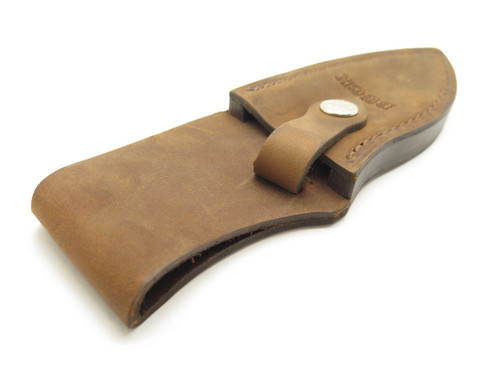 BUCK 923 BROWN DISTRESSED LEATHER MEDIUM SKINNER FIXED HUNTING KNIFE SHEATH