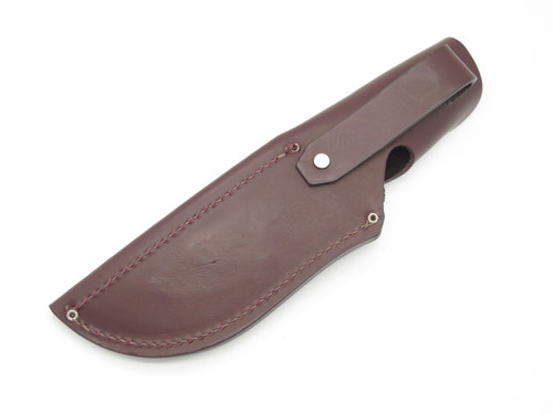 BUCK 401 KALINGA BURGUNDY LEATHER FIXED BLADE HUNTING KNIFE SHEATH