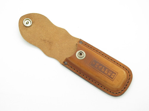 "CASE XX 4 1/4"" TRAPPER STOCKMAN HUNTER LEATHER FOLDING POCKET KNIFE SHEATH"