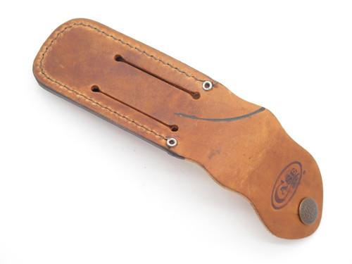 """*BLEM* CASE XX 4 1/4"""" TRAPPER STOCKMAN LEATHER FOLDING POCKET KNIFE SHEATH"""