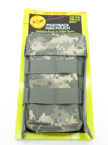 T.O.P M1611ACU 308 223 Cal Camo 1 Mag Magazine Ammo Pouch Case Holster Molle Bag