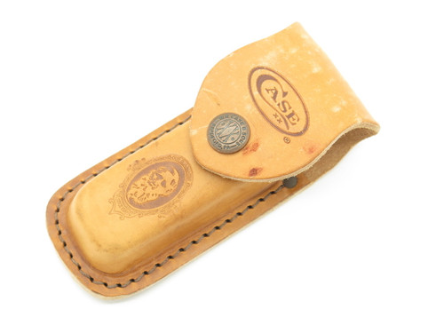 "Case XX Trapper Leather 4 1/4"" Folding Hunter Hunting Pocket Knife Sheath"