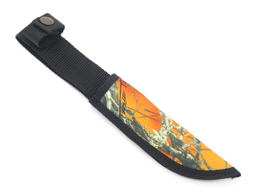 "Case XX Hunter Orange Camo Nylon Fixed 6"" Blade Hunting Knife Sheath"