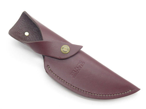 BUCK 401 KALINGA ORIGINAL BURGUNDY LEATHER FIXED BLADE HUNTING KNIFE SHEATH