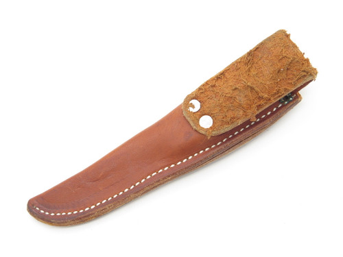 "Custom 3.5"" Blade Small Leather Fixed Blade Hunting Knife Sheath"