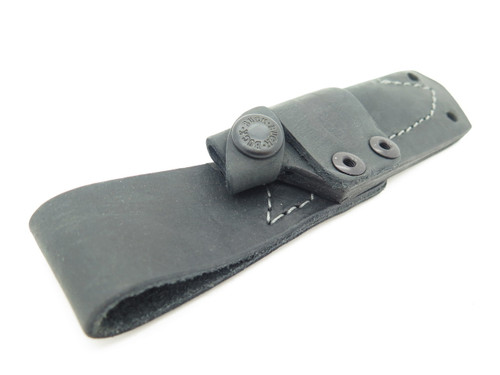 BUCK 017 THORN SMALL BLACK LEATHER FIXED BLADE KNIFE SHEATH *BLEM