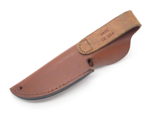 "Remington USA Brown Leather Fixed 3.75"" Blade Hunting Knife Sheath"