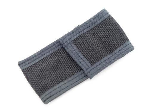 "Vtg Japan 3.6"" Folding Pocket Knife Black Nylon Sheath Pouch"