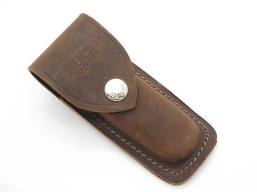 Buck 500 532 Duke Bucklock Distressed Brown Leather Folding Knife Sheath
