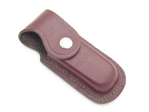 Buck 276 Folding Alpha Hunter Burgandy Leather Hunter Knife Sheath Pouch