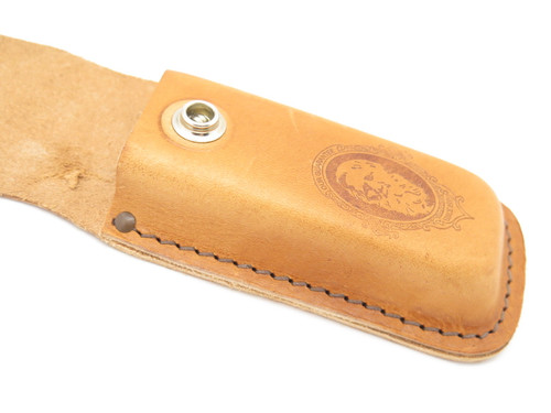 "Case XX 6265 Brown Natural Leather 5 1/4"" Folding Hunter Camping Knife Sheath"