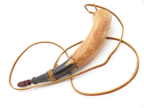 Handmade John Nelson Idaho 11.5 French Indian War Mountain Man Black Powder Horn