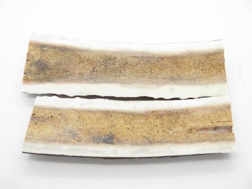 "INDIA SAMBAR STAG SCALE SLAB 5.5"" x 1.6"" FOLDING FIXED KNIFE MAKING HANDLE GRIP"