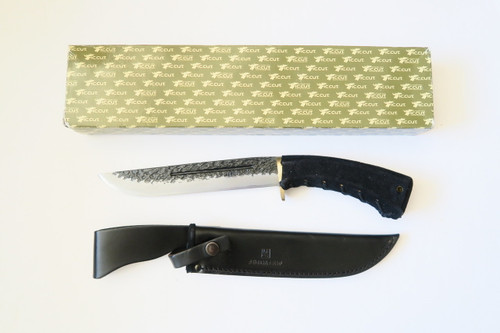 Vtg IC Cut MI4 Seki Japan Ishikawa Ken Nata San Mai Leather Fixed Machete Knife
