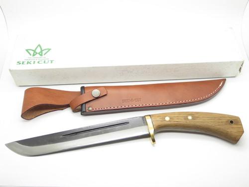 """Vtg Seki Cut 230 Japan Ishikawa Ken Nata 10"""" San Mai Fixed Machete Camp Knife"""